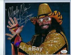 100% JSA Authentic Autograph WWE 8x10 MACHO MAN RANDY SAVAGE Signed Auto