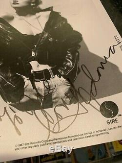 1987 Sire Records Herb Ritts Madonna Signed 8x10 Publicity Photo Jsa Authentic