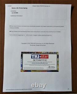 2002 Tom Brady Signed 8x10 Tristar COA Auto Autographed 100% Authentic RARE