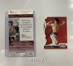 2008 Donruss Jackie Chan Signed Autograph Card JSA Authenticated Rare Auto LOOK