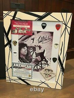 80s EVH Signed Guitar/Custom Framed Signed Pic (Certificate Of Authenticity)