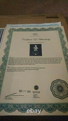 Abba Agnetha Faltskog Hairlock W Photo Autograph Certified Signed Coa Authentic