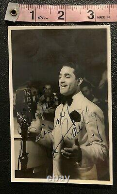 Al Bowlly Signed Photograph Postcard Authentic EXTREMELY RARE