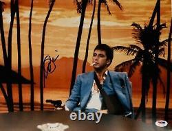 Al Pacino Authentic Signed 11x14 Scarface Photo Table Gun PSA/DNA ITP Autograph