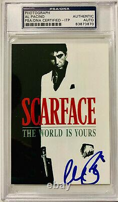 Al Pacino Authentic Signed 3.5x5 Scarface Photo PSA DNA ITP Autograph Slabbed