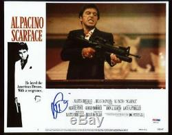 Al Pacino Scarface Signed Authentic 11X14 Photo Autographed PSA/DNA ITP #6A31118