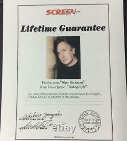 Alan Rickman Autographed Photo Authentic Screen Rare Harry Potter Dr Snape F/s