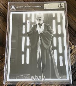 Alec Guinness Star Wars Authentic Signed Obi Wan Kenobi 8x10 Photo BAS Slabbed