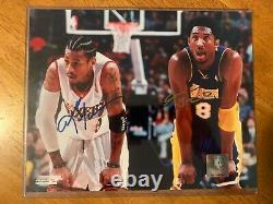 Allen Iverson & Kobe Bryant Signed Photo (8x10) with Certificate of Authenticity