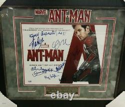 Ant-Man (10 signatures) Stan Lee, Paul Rudd Authentic Signed 11X14 Photo PSA/DNA