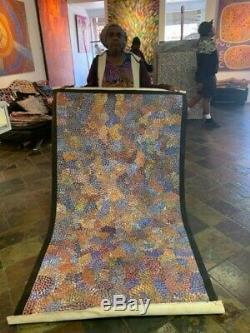 Authentic Aboriginal Art EILEEN BIRD 200 X 110cm, Hold Photo, COA