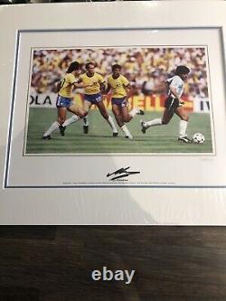 Authentic Hand Signed Maradona Framed Photograph With COA