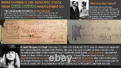 Authentic Lynyrd Skynyrd Ronnie Van-Zant Tour Pay Check, Artimus Signed Picture