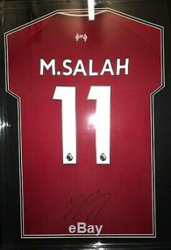 Authentic Mohammed Salah Signed Shirt and Photos Memorabilia