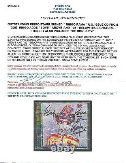 Authentic Signed By Beatles Ringo Starr Ringo Rama Solo Double Cd/dvd 2003
