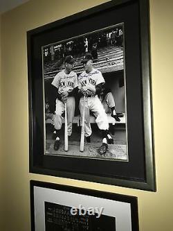 Autographed 16x20 Joe DiMaggio/Mickey Mantle Guaranteed Authentic JSA/PSA Framed
