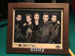 Autographed Authentic NSYNC B&W Picture In Wooden Frame