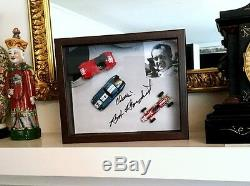 BOB BONDURANT SHELBY shadow box 12X9X3 Authentic Autographed DAYTONA Cobra Ferra