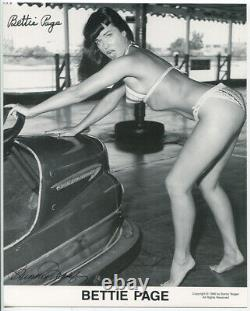 Bettie Page, Risque Photo. Signed Silver Prints With Certificate Of Authenticity