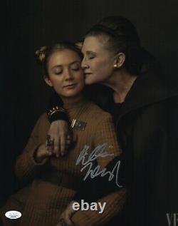 Billie Lourd Signed 11x14 Star Wars VF Carrie Fisher Authentic Autograph JSA COA