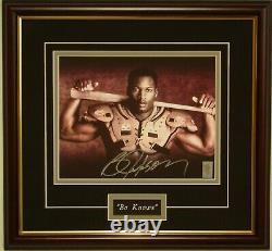 Bo Jackson authentic signed Nike ad photo Bo Knows bat/pads player hologram COA