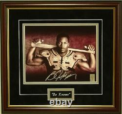 Bo Jackson authentic signed framed photo Bo Knows bat & pads player holo Nike