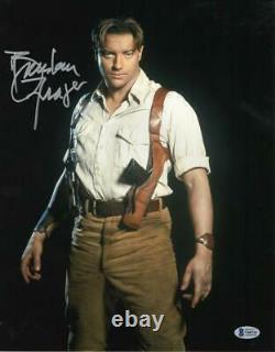 Brendan Fraser Signed 11x14 Photo The Mummy Authentic Autograph Beckett Coa A
