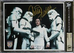 Carrie Fisher Star Wars Authentic Signed 8x10 Photo Auto Graded 9! BAS Slabbed