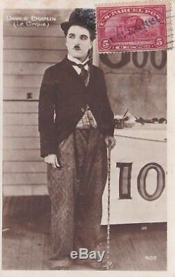 Charlie Chaplin Scarce Authentic Hand Signed Autograph Photo Card