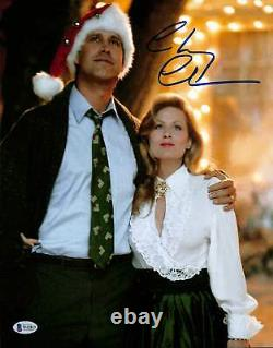 Chevy Chase Christmas Vacation Authentic Signed 11x14 Photo BAS Witnessed 3