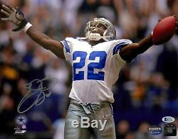 Cowboys Emmitt Smith Authentic Signed 11x14 Photo Autographed BAS Witnessed