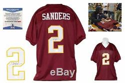 Deion Sanders Autographed SIGNED Jersey Beckett Authentic with Photo Burgundy