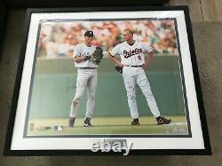 Derek Jeter Cal Ripken Jr Auto Signed Framed 20x24 Steiner MLB Authenticated Pic