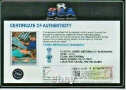 Diego Maradona & Messi signed jersey Certificate of Authenticity & Photo Proof