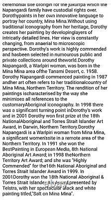 Dorothy Napangardi -with certificate of authenticity + photo. REDUCED Price
