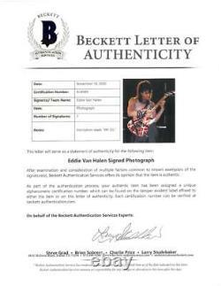 Eddie Van Halen Signed Van Halen Authentic Autographed 8x10 Photo BECKETT#A34949