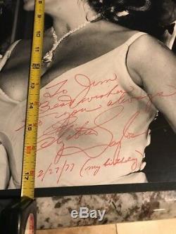Elizabeth Taylor Photo SIGNED JSA AUTHENTIC AUTOGRAPH COA 14x17 Very Large