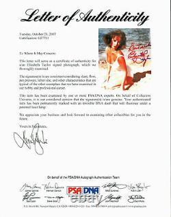 Elizabeth Taylor Suddenly Last Summer Authentic Signed 8X10 Photo PSA/DNA G57711