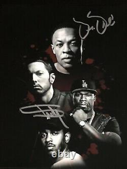 Eminem And Dr Dre autographed 8x10 photo, signed, authentic, Slim Shady, COA