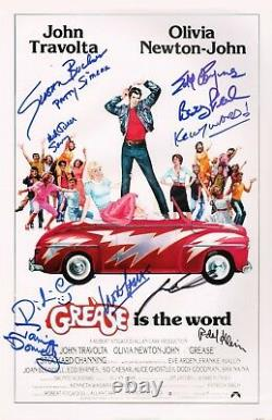 GREASE Cast x10 Authentic Hand-Signed John Travolta 11x17 Photo