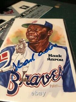 HANK AARON signed / autographed 1983 perez steele post card JSA authenticated