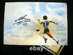 Hand Signed Diego Maradona 12x19 Photo Authentic Autograph with Proof