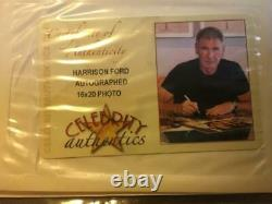 Harrison Ford Star Wars Signed Official Pix OPX 16x20 Photo Celebrity Authentics