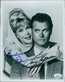 I Dream of Jeannie Barbara Eden Larry Hagman Signed 8x10 Photo JSA Authenticated