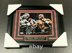 Iron Mike Tyson Authentic Signed Autographed 8x10 Action Photo Framed Bas Coa