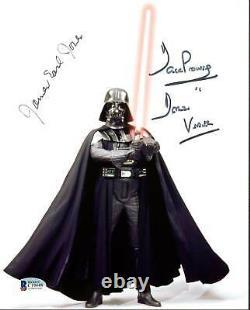 James Earl Jones & David Prowse Star Wars Authentic Signed 8X10 Photo BAS C19448