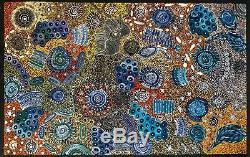 Janet Golder Kngwarreye, Authentic Collectable Aboriginal Art, Incl COA, photos