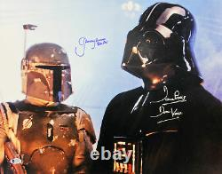 Jeremy Bulloch & David Prowse Star Wars Authentic Signed 16x20 Photo BAS 1