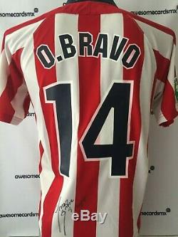 Jersey Chivas 2003 Signed by Omar Bravo Photo Proof Certificate Authenticity