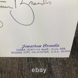 Jonathan Brandis Authentic Autographed 4x6 Seaquest Photo Card Extremely Rare